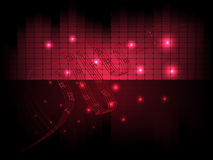 Vector musical abstract background with equalizer and notes Royalty Free Stock Photos