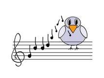 Vector musical bird Stock Photo