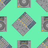 Vector musical equipment seamless pattern Stock Photography