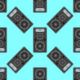 Vector musical equipment seamless pattern Royalty Free Stock Images
