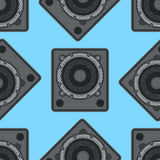 Vector musical equipment seamless pattern Royalty Free Stock Image