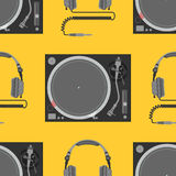 Vector musical equipment seamless pattern Stock Photo