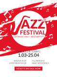 Vector musical flyer Jazz festival. Music poster background festival banner or flyer template. Royalty Free Stock Photo