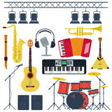 Vector Musical Instruments Isolated Stock Photography
