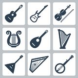 Vector musical instruments: strings Stock Images