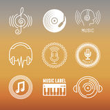 Vector musical logos and icons Royalty Free Stock Photos