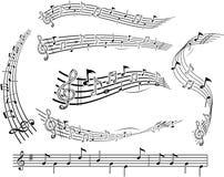 Vector musical notes Stock Photos