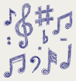 Vector musical notes Stock Photo
