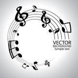 Vector musical notes  background Royalty Free Stock Images