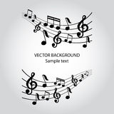 Vector musical notes  background Stock Photo