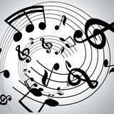 Vector musical notes  background Stock Images