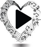 Vector musical notes Royalty Free Stock Photos
