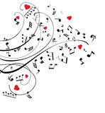 Vector Musical Notes Stock Images