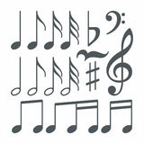 Vector musical notes Stock Photography