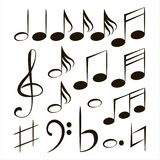 Vector musical notes Royalty Free Stock Photography