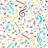 Vector musical pattern with notes. Vector illustration. Stock Images