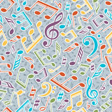Vector musical pattern with notes. Vector illustration. Royalty Free Stock Photos