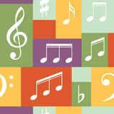 Vector musical pattern with notes. Vector illustration. Royalty Free Stock Image
