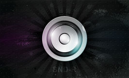 Vector musical speaker icon on a dark background Royalty Free Stock Image