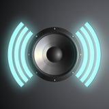 Vector musical speaker Stock Photo