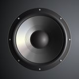 Vector musical speaker Royalty Free Stock Photography
