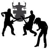 Vector musicians silhouette. Stock Photo