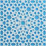 Vector muslim mosaic, persian motif. Mosque decoration element. Islamic geometric pattern. Elegant oriental ornament Royalty Free Stock Photos