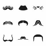 Vector Mustaches icon set Stock Image