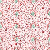 Vector Muster mit Blumen, Blättern und Anlagen Blumensträuße der Rosen Nahtloser mit Blumenhintergrund vektor abbildung