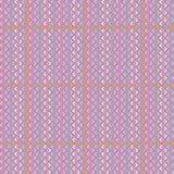 Vector Muster mit Streifen, Quadraten und Rauten Lizenzfreie Stockfotografie
