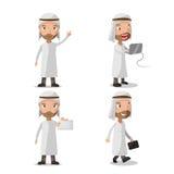 Vector musulmán del juego de caracteres del hombre de negocios ilustración del vector