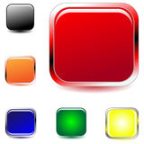 Vector mutlicolored square buttons Stock Images