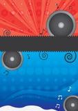Vector muziekaffiche Stock Fotografie