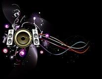 Vector muziekillustratie Stock Foto
