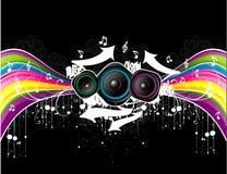 Vector muziekillustratie Stock Afbeeldingen