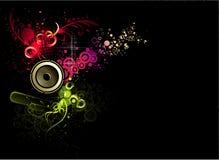 Vector muziekillustratie Stock Fotografie