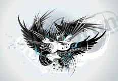 Vector muziekillustratie Royalty-vrije Stock Foto's