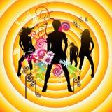 Vector muziekillustratie Royalty-vrije Stock Afbeeldingen