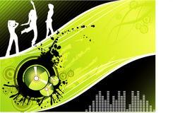Vector muziekillustratie Royalty-vrije Stock Afbeelding