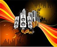 Vector muziekillustratie Stock Foto's