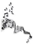 Vector muzieknota's stock illustratie