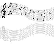 Vector muzieknota's royalty-vrije illustratie