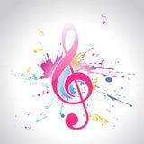 Vector muziekontwerp Stock Afbeelding