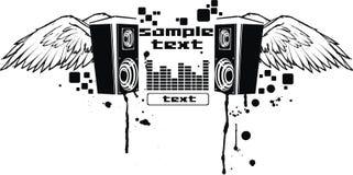 Vector muziekvlieg Stock Fotografie