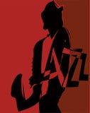 Vector muzikaal Jazzfestival Royalty-vrije Stock Foto