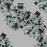 Vector naadloos abstract geometrisch patroon in zwart-wit pastelkleur lichte en donkergroene kleuren Stock Afbeelding