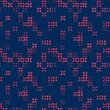 Vector naadloos abstract patroon Geometrische achtergrond met kruisen Schaduwen van Purple Royalty-vrije Stock Fotografie