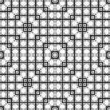 Vector naadloos abstract zwart-wit patroon Abstract Behang als achtergrond Stock Illustratie