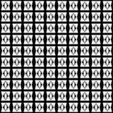 Vector naadloos abstract zwart-wit patroon Abstract Behang als achtergrond Vector illustratie Royalty-vrije Stock Afbeelding