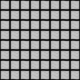 Vector naadloos abstract zwart-wit patroon Abstract Behang als achtergrond Vector illustratie Royalty-vrije Stock Fotografie